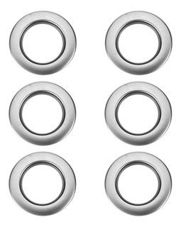 6pcs Anillo Ojal De Cortina Plástico Redondo Plateado Ring