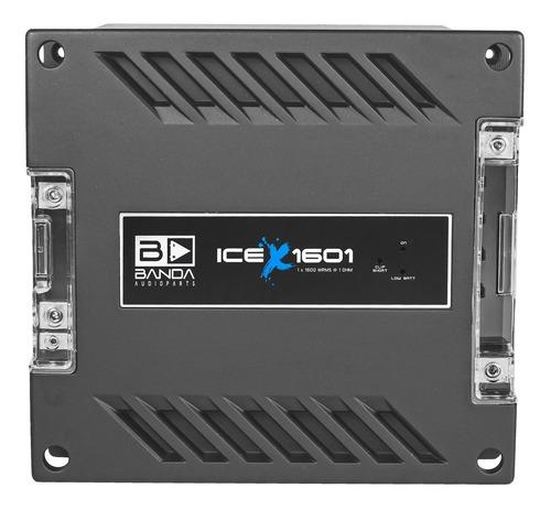 Módulo Amplificador Banda Ice X 1601 1 Ohm 1600 Rms 1 Canal