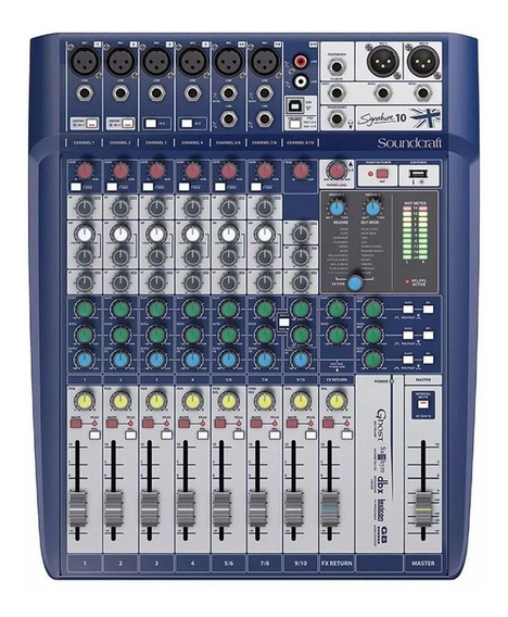 Mixer Mesa De Som Soundcraft Signature 10 Com Interface Usb.