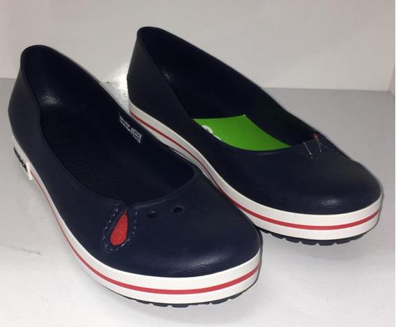 Sapato Feminino Crocs Crocband Flat Navy X22072-410