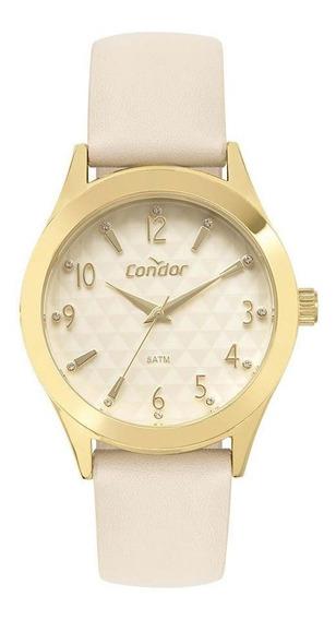 Relógio Feminino Condor Com Conjunto Colar E Brinco