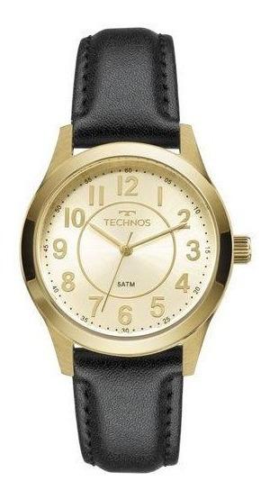 Relógio Technos Boutique Dourado Couro 2035mjf/2x