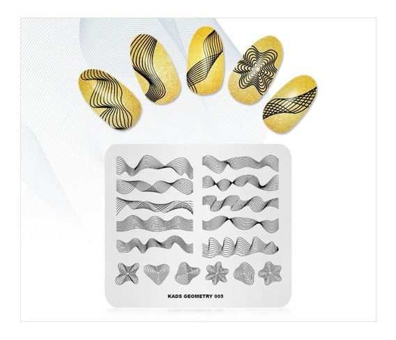 Placa De Imagem Para Decoração De Unhas Kads - Unidade