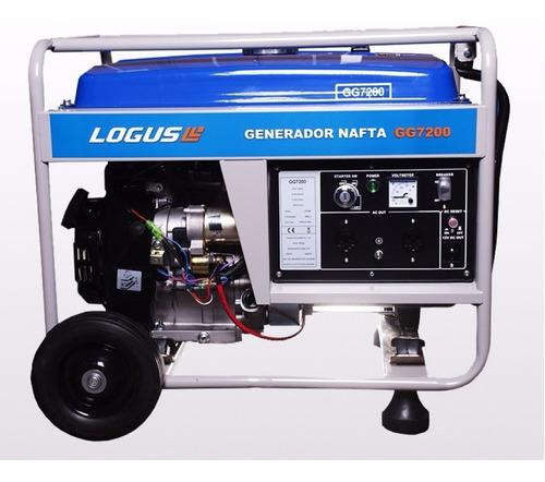 Generador Grupo Electrógeno Logus 7200 6000w Batería Aceite