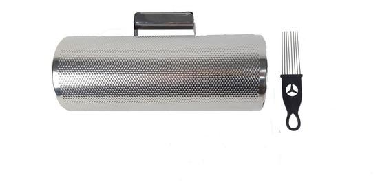 Efeito Torpedo Tipo Lp Metal Cromo Custom Percussion Grande
