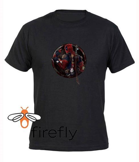 Remera Dead Pool Hombre Negro Coleccion 1 Firefly