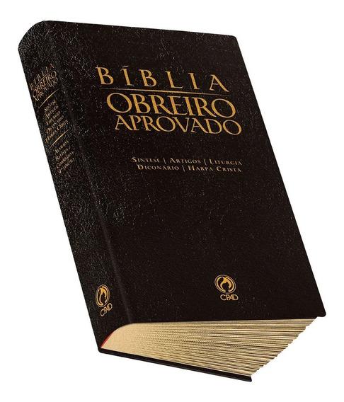 Bíblia Obreiro Aprovado Estudo Harpa Cristã Luxo Média Cpad