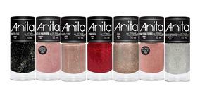 Esmalte Anita Kit Glitter 7un Manicure Profissional