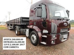 Ford Cargo 1933 Leito 2017 Carreta Ls
