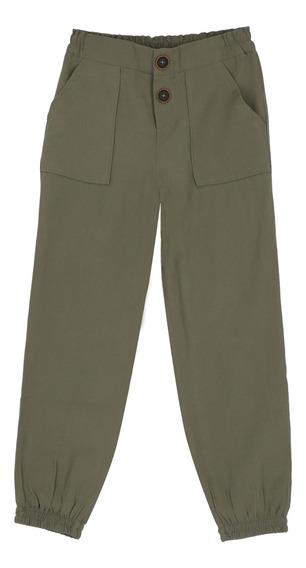 Pantalón Fluido Corte Cargo De Niñas C&a 1049852