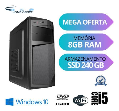 Imagem 1 de 8 de Cpu Torre I5 8gb Ram Ssd 240 Windows 10 Pró
