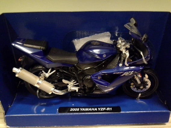 Miniatura Moto Yamaha Yxf-r1 2005 New Ray Escala 1:12 (17cm)