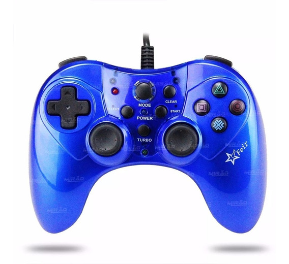 Controle Joystick Pc Usb Com Modo Turbo Feir Pc Ps3- Fr-2120