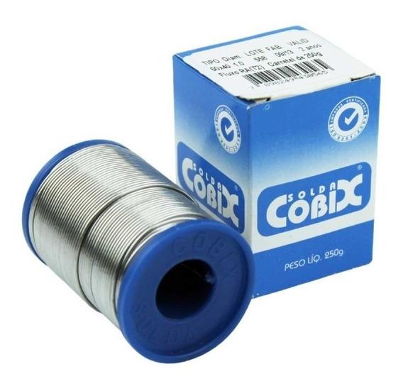 Solda Em Fio Estanho Cobix 0.5mm 60x40 250g Com Fluxo