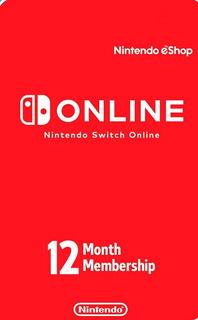 Membresia Nintendo Switch Online 12 Meses Digital