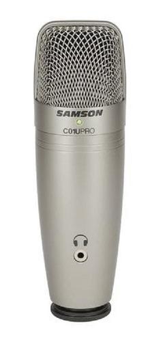 Imagen 1 de 10 de Micrófono Condenser Samson C01upro Usb Estudio Profesional