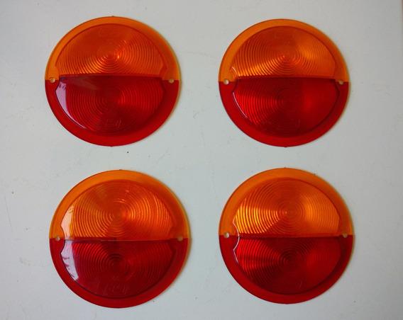 Par De Lentes Lanterna Traseira Caminhão Gf-22 Bicolor