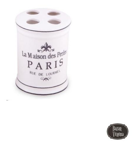Portacepillos En Porcelana Linea Paris