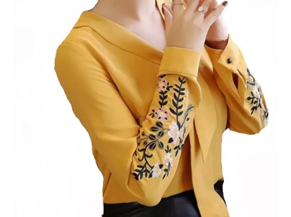 Camisa Feminino Blusa Social Em Renda Foto Real De Luxo
