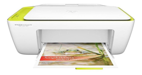 Impressora a cor HP Deskjet Ink Advantage 2136 branca 110V/220V