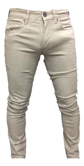 Pantalón Jeans Elasticado Hombre Skinny Semipitillo