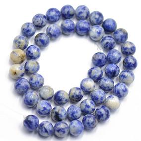 8mm Natureza Azul Local Jaspe Pedra Preciosa Solto Spacer Mi
