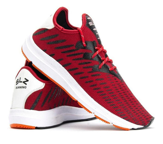 Tênis Masculino Running Caminhada Casual Salazari Vermelho