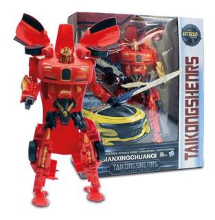 Robot Transformer Figura De Acción Auto Robot Con Accesorios