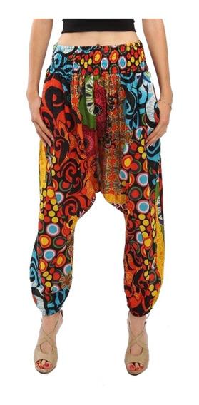 Village Venture-pantalón Harem Estampado Multicolor Mod.9622
