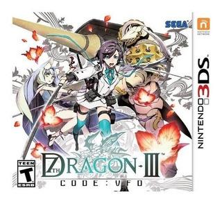 7th Dragon Iii Code Vfd Usado Garantia Nintendo 3ds Vdgmrs