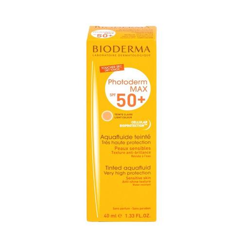 Protector solar Bioderma Photoderm MAX Aquafluide Tono Claro para rostro crema resistente al agua FPS50 x 40ml