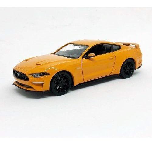 Miniatura Carro Ford Mustang Gt 2018 Laranja 1:24 Motor Max