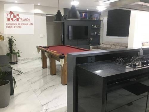 Apto Com 2 Dormitórios Sala Estendida, 80 M² Por R$ 560.000 - Santa Teresinha - Santo André/sp - Ap3225
