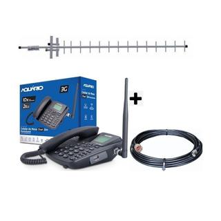 Kit Telefone De Mesa Rural Dual Chip 3g Pentaband Ca-42s 3g