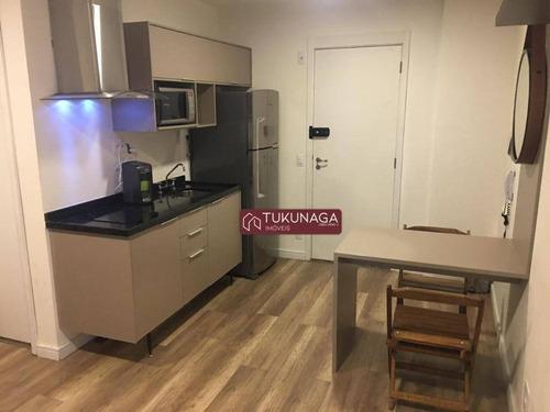 Studio Com 1 Dormitório Para Alugar, 26 M² Por R$ 1.690,00/mês - Santa Cecília - São Paulo/sp - St0108