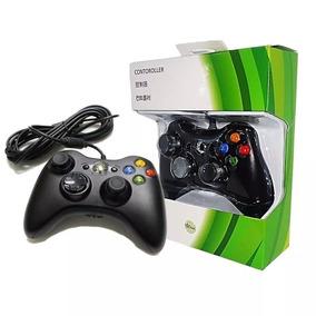 Kit C/ 10 Controle Para Xbox 360 Com Fio Cabo 2,5 Metro X360