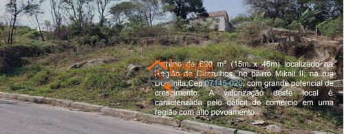 Terreno À Venda, 690 M² Por R$ 320.000,00 - Mikail Ii - Guarulhos/sp - Te0071