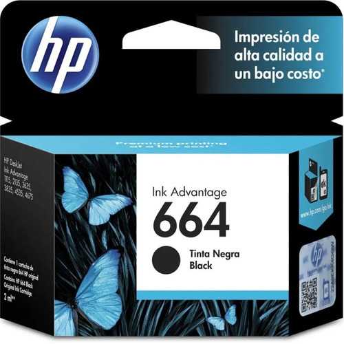 Cartucho Hp 664 Negro Para Hp 2135 3635 2675 Original
