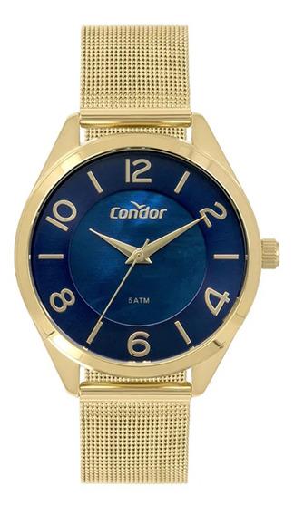 Relógio Feminino Condor Bracelete Dourado Co2036kwuk4a