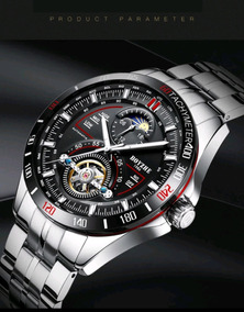 Relógio Masculino Esportivo Aço Inox Automático Marca Boyzhe