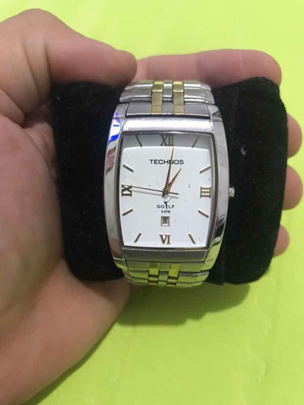 Relógio Technos Masculino Prata Dourado Classic