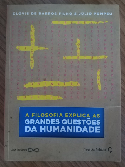 Livro Filosofia Explica As Grandes Questões Clóvis De Barros