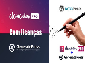Licença Elementor Pro 1 Site+ Tema Generate Press Premium C/