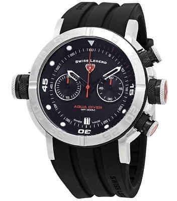 Swiss Legend Aqua Diver Cronógrafo Reloj Con Esfera Negra