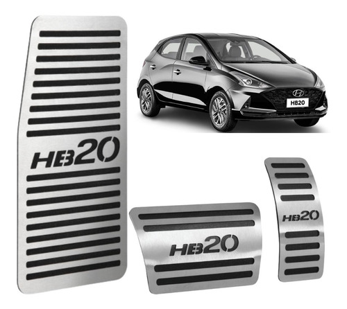 Kit Pedaleira Esportiva Descanso Hyundai Hb20 2013 A 2021 At