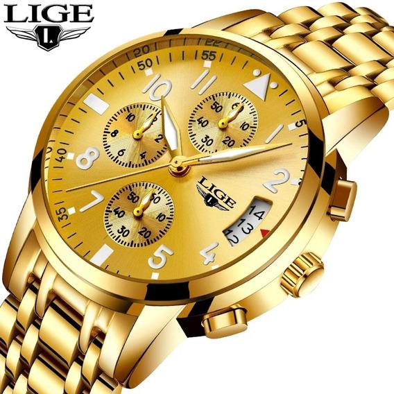 Relógio Feminino 9825 Inoxidável Original / Lige