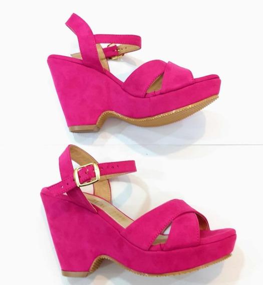 Zapatos Plataforma Rosa Mexicano Fiusha Moda Dama Casual