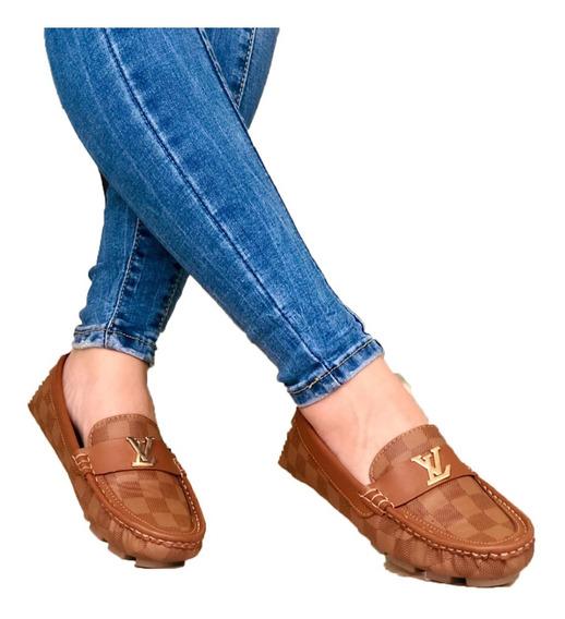 Calzado Mocasin Louis Vuitton Dama / Zapato Casual Mujer /