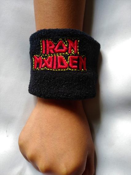 Iron Maiden Muñequeras Toalla Bordadas Slayer,metallica,kiss