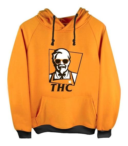 Sudadera Hoodie Coronel Sanders Addicted Marihuana Thc Kfc